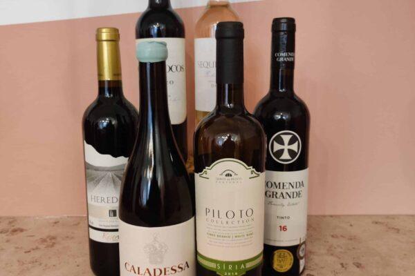 1 rosé, 2 witte en 3 rode wijnen van 6 verschillende huizen uit 3 regio's voor